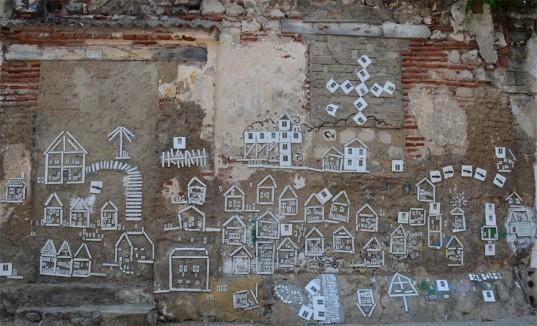 Obra colectiva de Borba y otros artistas en la Calle Sierpe