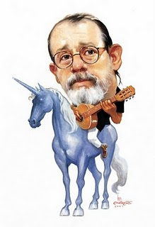 Silvio Rodriguez caricatura