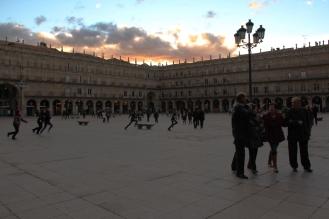 plaza mayor, gente, salamanca